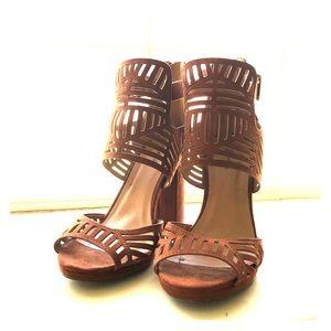 Burnt orange sandals
